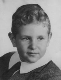 Mort as a young boy